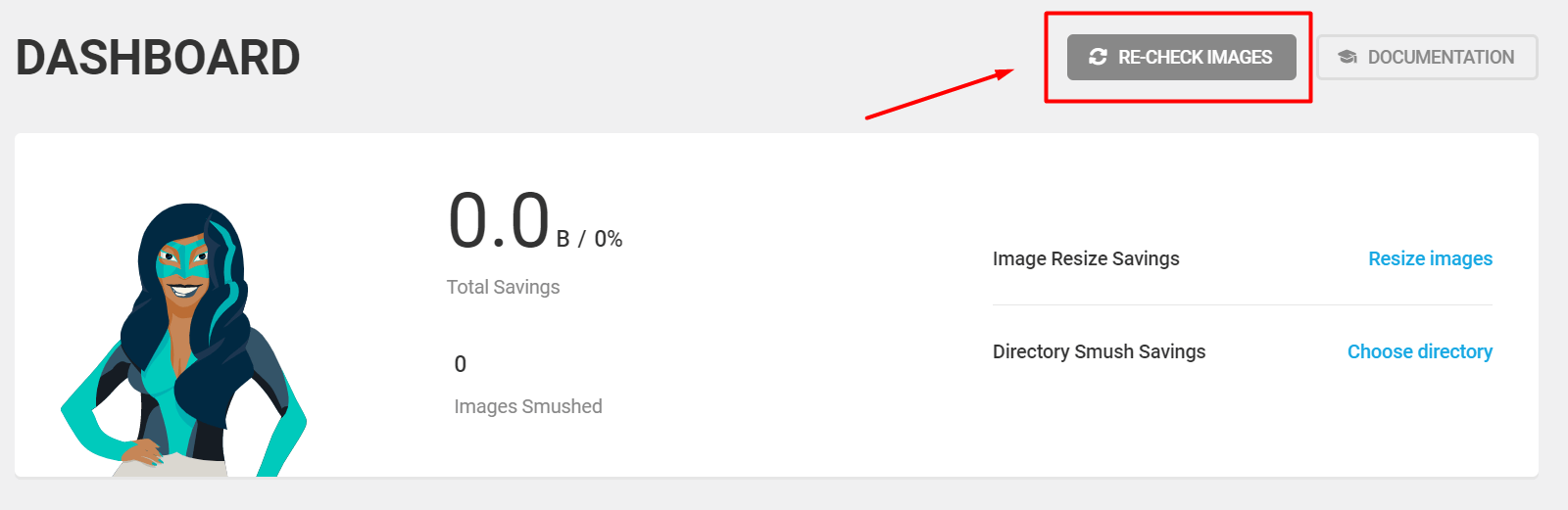 cara menggunakkan WP smush versi manual yang pertama adalah dengan re-check images