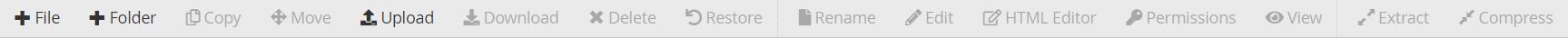 Menu manajemen file dan folder file manager cPanel