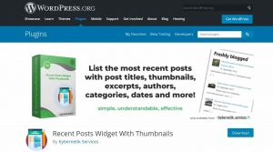 recent post widget for wordpress