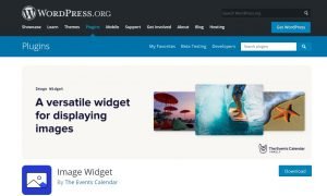 wordpress image widgets