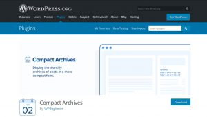compact archives wordpress