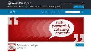 testimonials widget wordpress