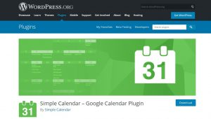 google calendar events widget