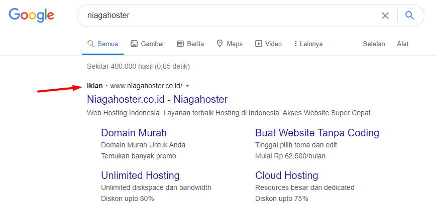 PPC jenis search advertising