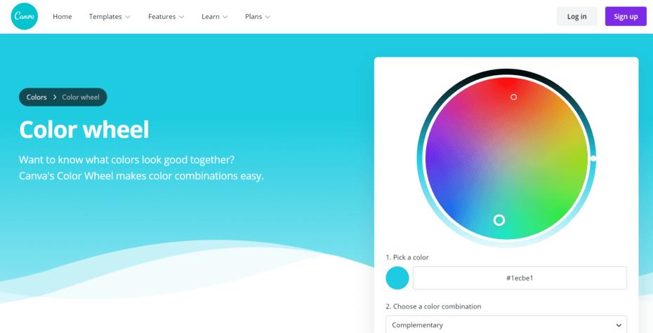 salah satu website inspirasi kombinasi warna adalah Canva