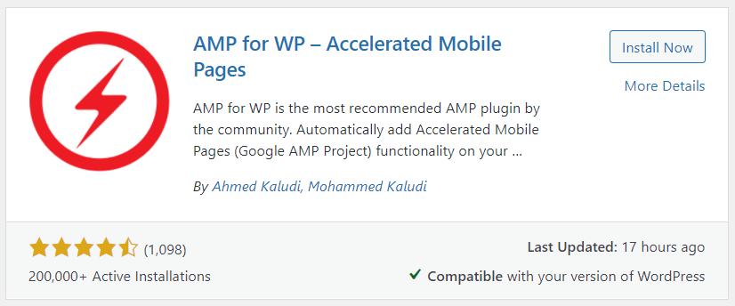 Plugin AMP for WP