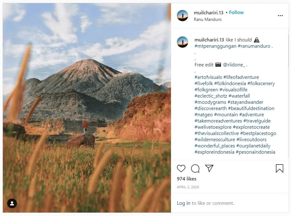 Contoh tempat wisata viral di media sosial