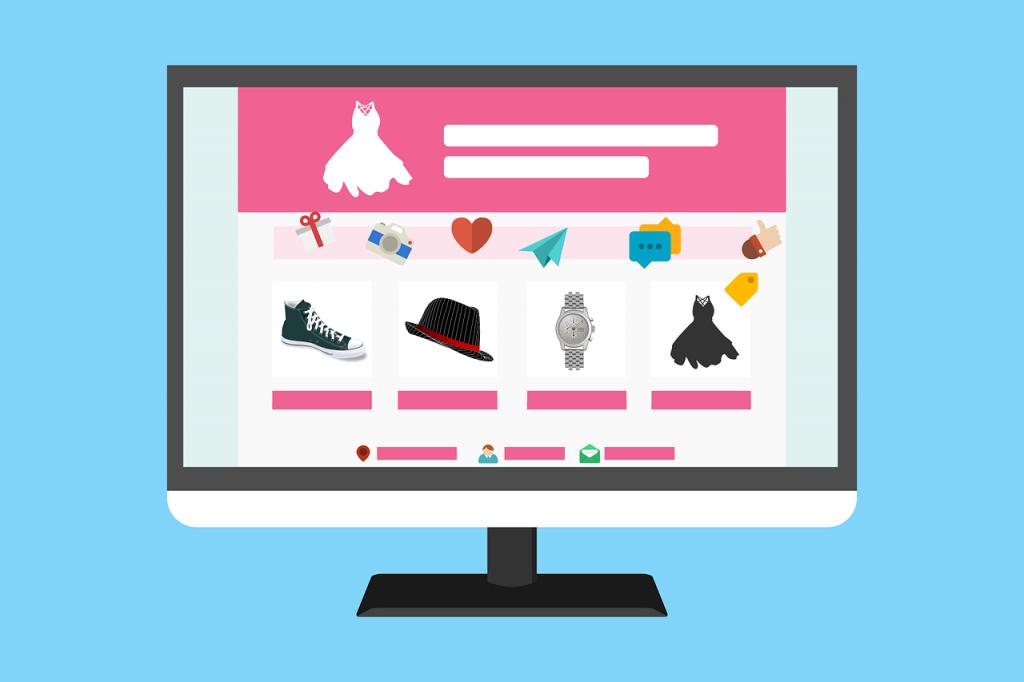 Ilustrasi online shop
