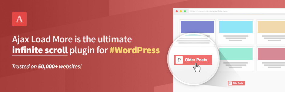 Banner plugin WordPress Infinite Scroll