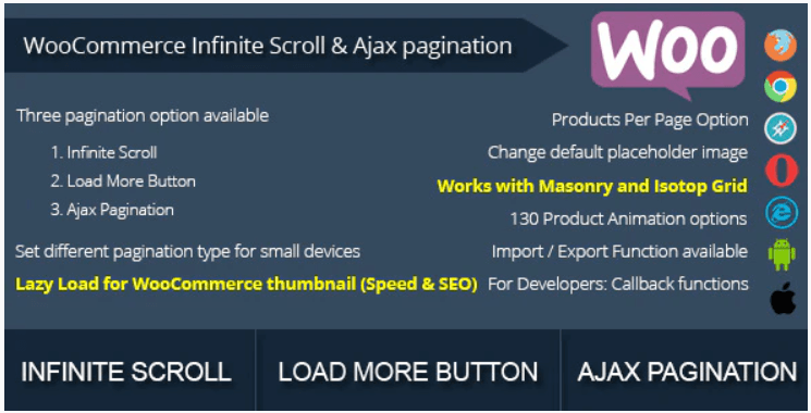 Banner plugin WooCommerce Infinite Scroll