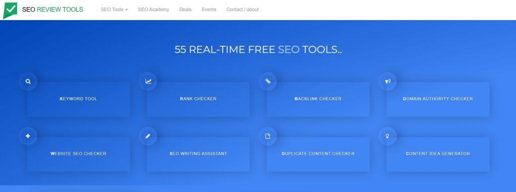 Halaman utama SEO Review Tools