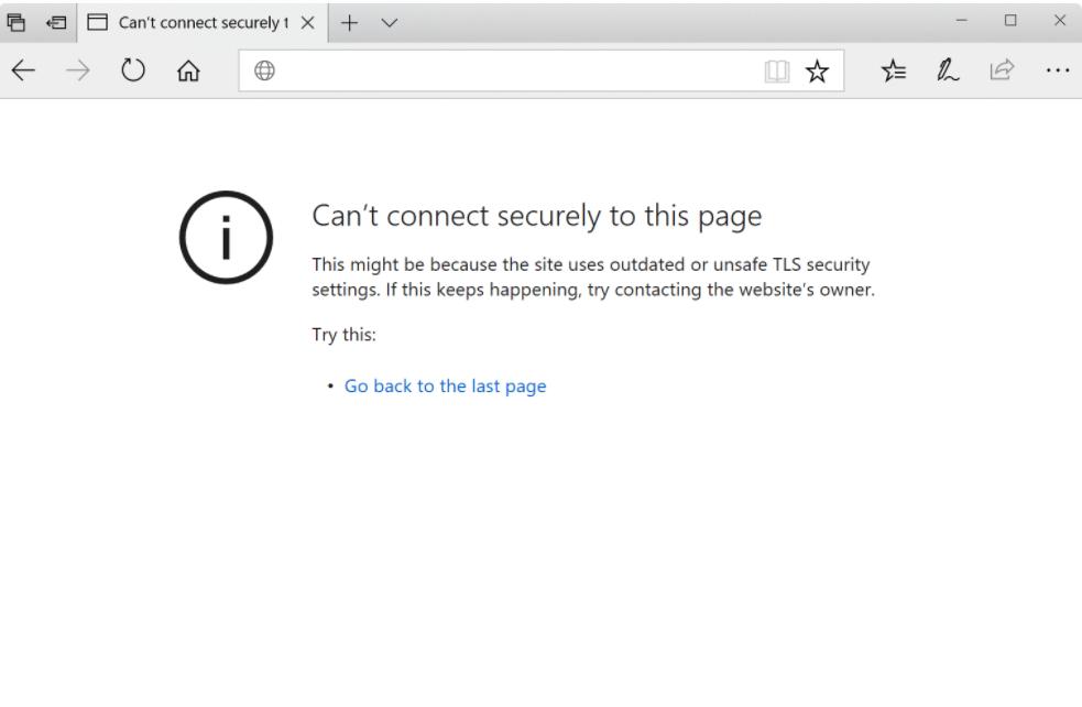 Error  err_ssl_protocol_error yang terjadi di Microsoft Edge