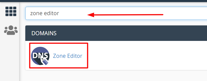 memilih menu zone editor