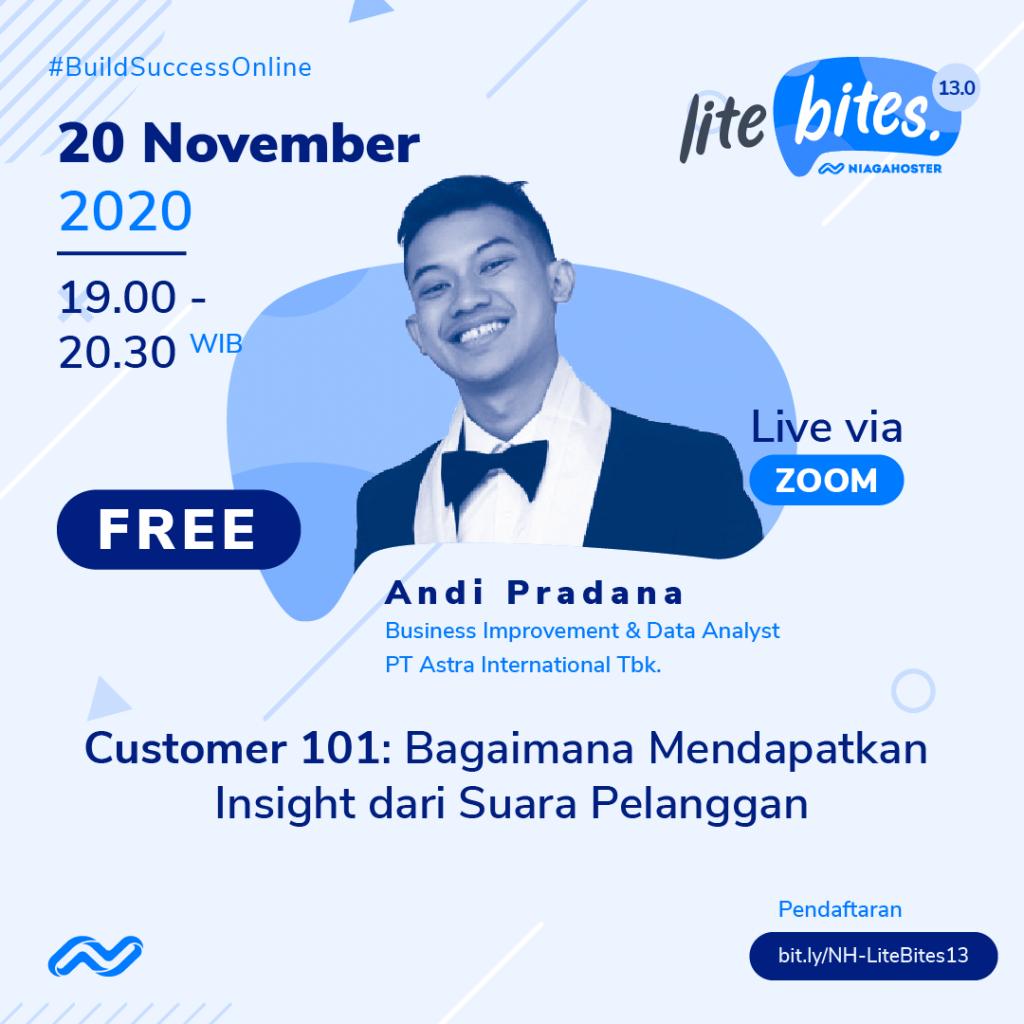Niagahoster Lite Bites 13.0: Bagaimana Mendapatkan Insight dari Suara Pelanggan