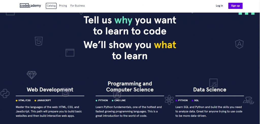 Code Academy, situs berbahasa inggris untuk belajar coding