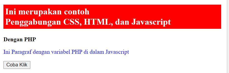 gabungan php javascript css html