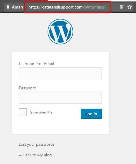 Default URL Login telah terganti