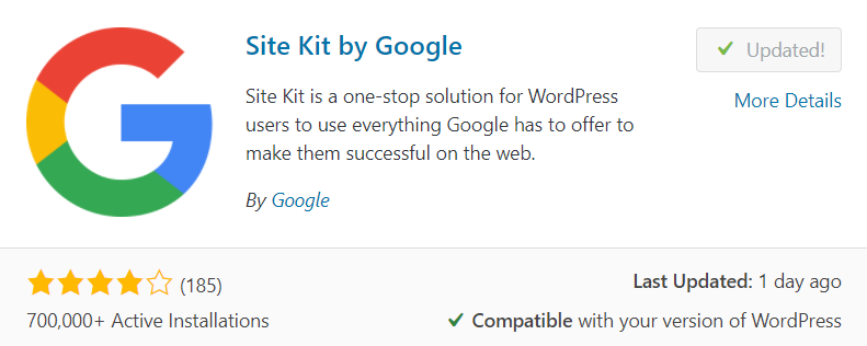 plugin Google Site Kit untuk WordPress