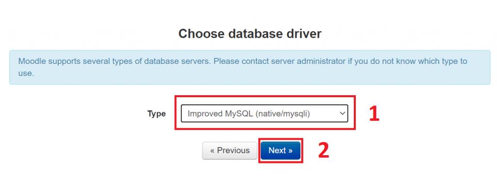 memilih database driver