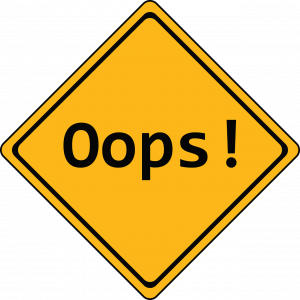 ilustrasi error yang harus dihindari dengan backup data website