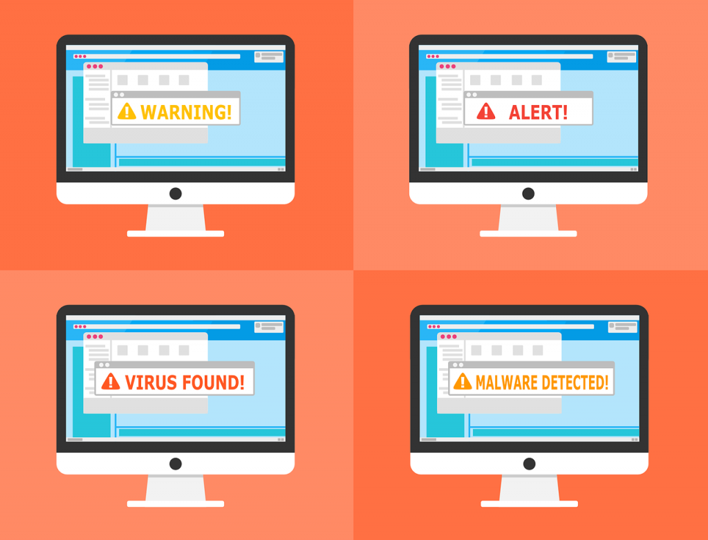 ilustrasi malware yang harus dihindari dengan backup data website
