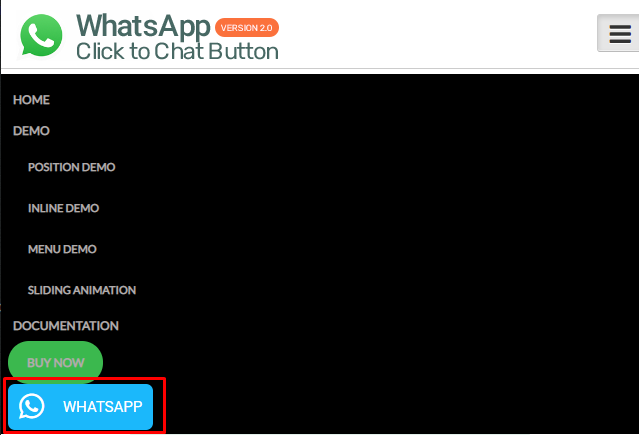 Fitur Add on menu WhatsApp Button