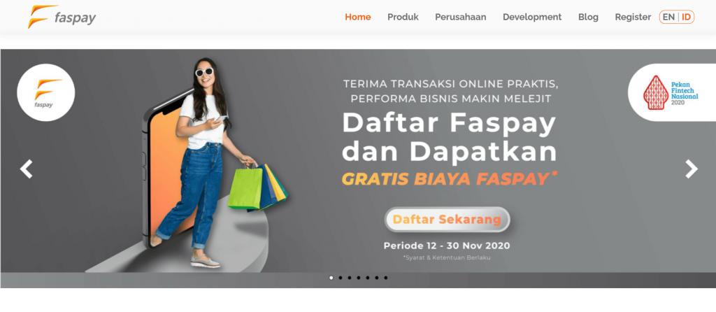 Faspay salah satu layanan payment gateway