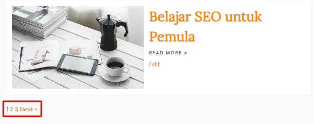 Custom pagination dengan cara manual