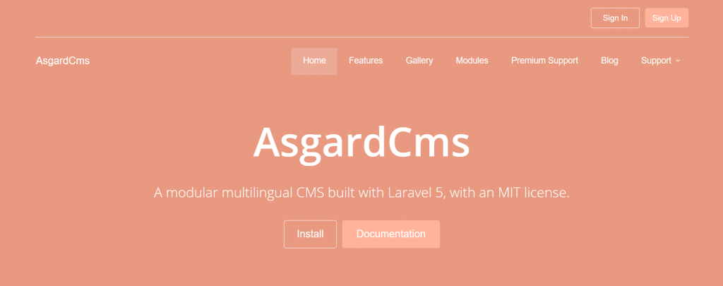 AsgardCMS dibangun dengan laravel 5