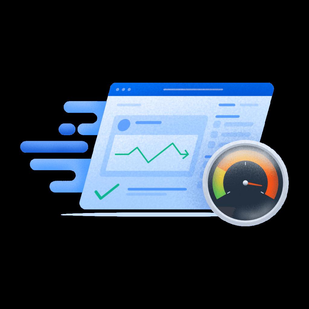 ilustrasi cek kecepatan pada website audit