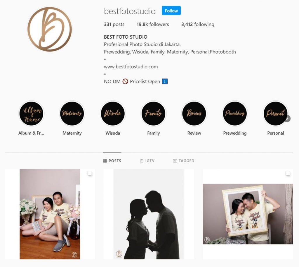 Akun Instagram Best Foto Studio