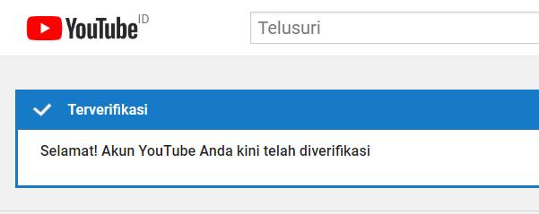 Akun yang sudah terverifikasi dalam YouTube Marketing