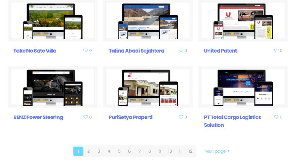 Portfolio Karya Web Studio