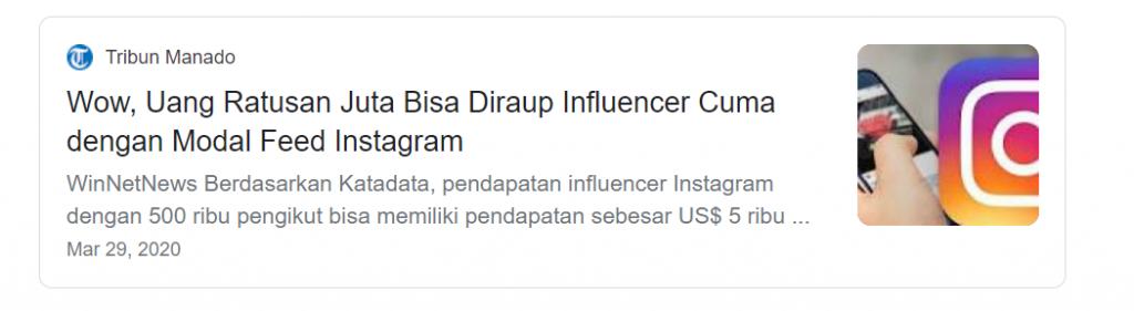 menjadi influencer merupakan salah satu usaha sampingan yang menguntungkan