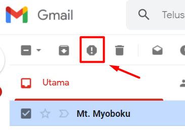 salah satu cara menghindari email spam adalah melaporkannya