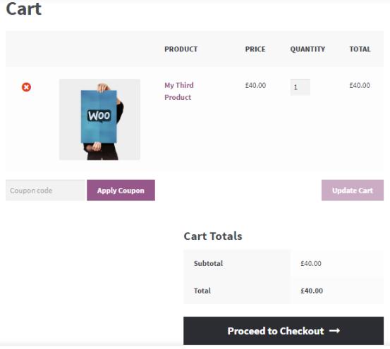 WooCommerce Shortcodes Cart