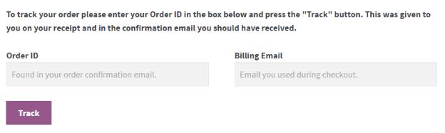 WooCommerce Shortcodes Order Track