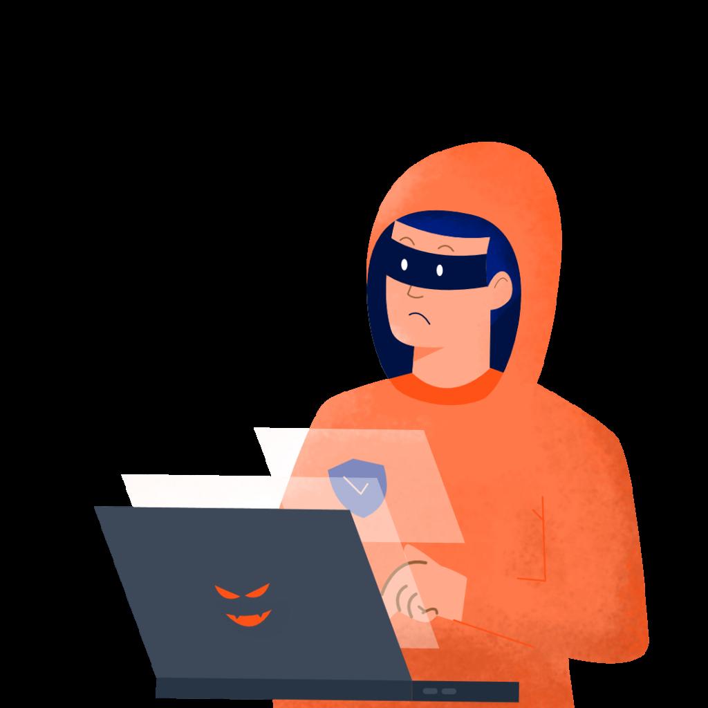 ilustrasi kerugian yang ditimbulkan spyware