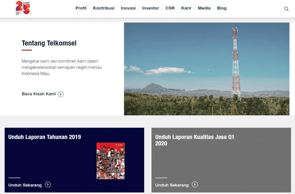 pengaturan tampilan visual yang menarik halaman about us