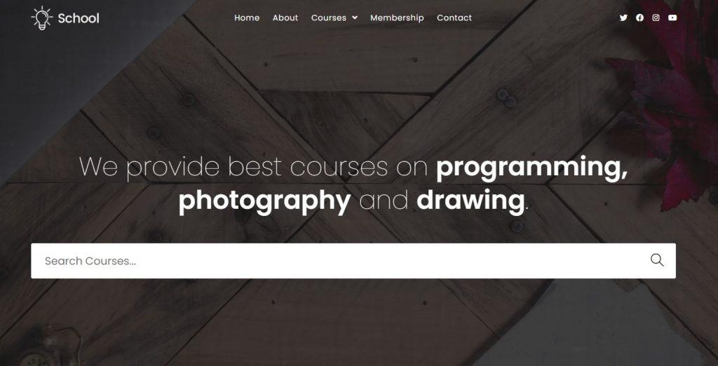 template website sekolah dari oceanwp