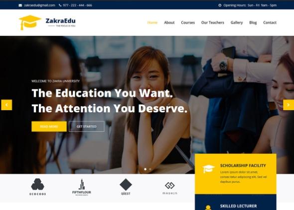 Zakraedu adalah salah satu template website sekolah terbaik