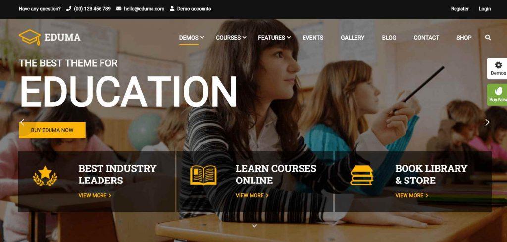 kursus dan sekolah online dengan tema eduma