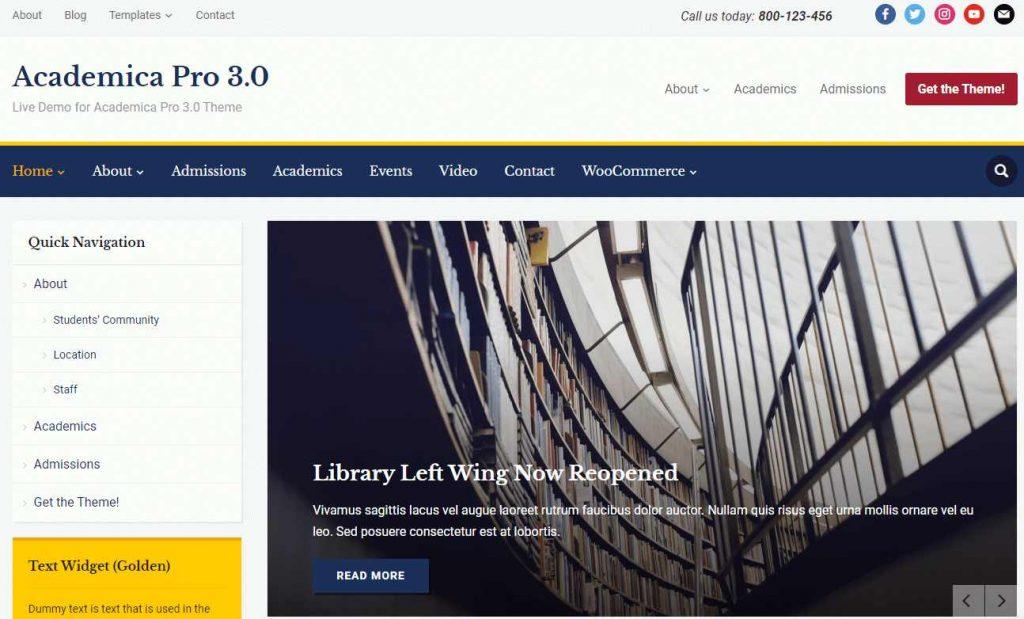 template serbaguna dan responsif Academica Pro 3.0