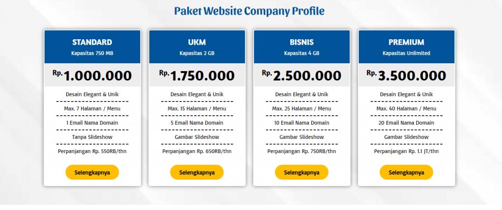 Pilihan Paket Pembuatan Website Company Profile Posnetindo