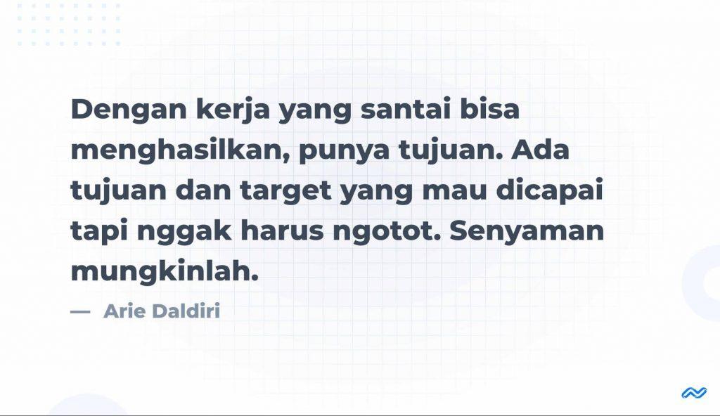 Prinsip Kerja Arie Daldiri
