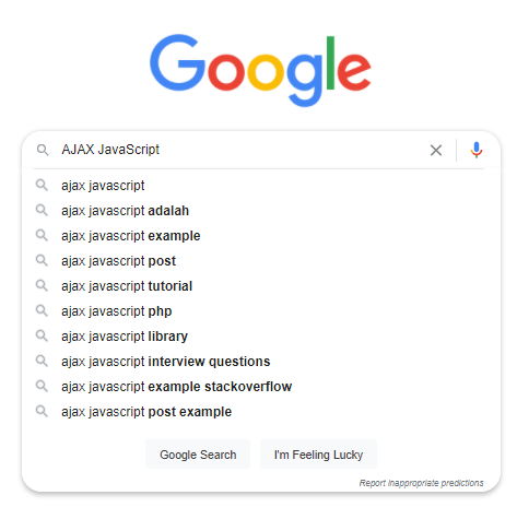 Contoh penggunaan AJAX Javascript pada Google Suggestion