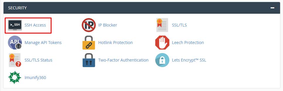 Cara menggunakan SFTP di cPanel, pilih SSH Access
