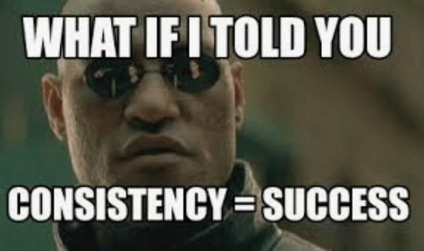 posting konten secara konsisten