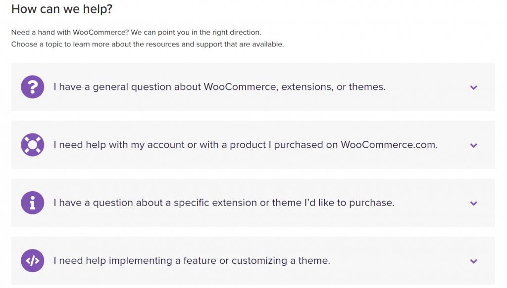 prestashop vs woocommerce: bantuan faq woocommerce