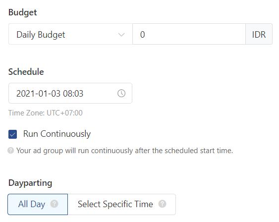 budget dan scheduling